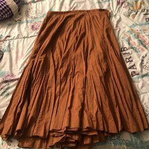 Brown Brohemian skirt